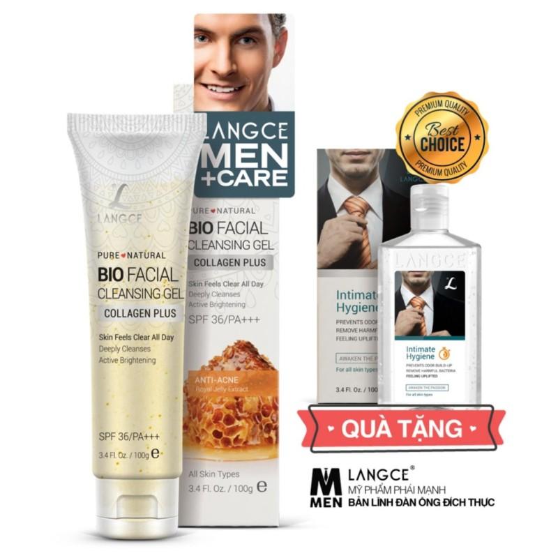 Gel Rửa Mặt Collagen+ Đẹp Da 100ml - Sữa Ong Chúa - Ngừa Mụn cho Nam TẶNG Gel Vệ Sinh Vùng Kín Nam 100ml LANGCE giá rẻ