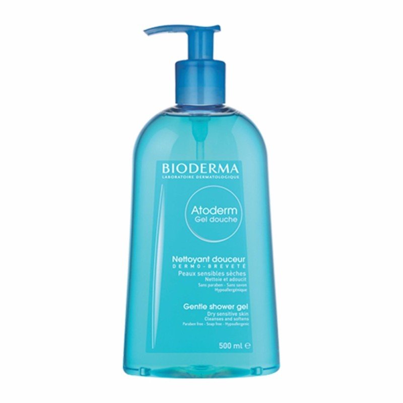 Gel tắm dưỡng ẩm hằng ngày dành cho da khô, nhạy cảm BIODERMA Atoderm Gel Douche 500ml nhập khẩu