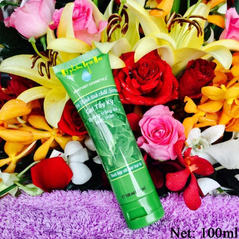 Gel tẩy kỳ tế bào chết, Dưỡng trắng da mặt trà xanh tinh chất Serum Nhật Việt Cosmetics (100ml) nhập khẩu