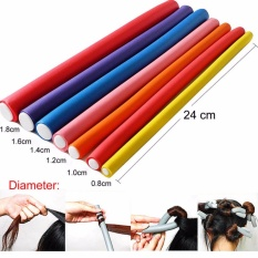 GETEK 10Pcs Fantastic DIY Curler Makers Soft Foam Bendy Twist Curls Tool Hair Rollers Size 1.6CM