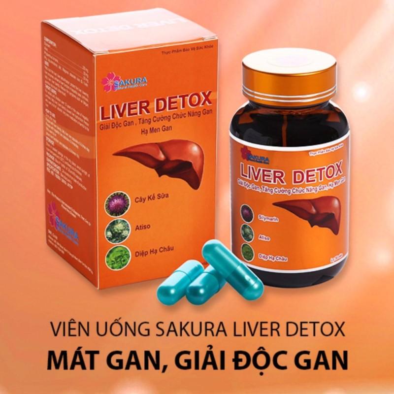 Giải độc gan LIVER DETOX+ tặng kèm 1 Detox life giá không đổi cao cấp