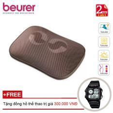 Chiết Khấu Gối Massage Đen Hồng Ngoại Co Điều Khiển Beurer Mg147 Tặng Đồng Hồ Thể Thao Chinh Hang Beurer