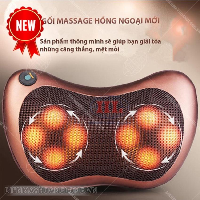 Gối massage hồng ngoại 8 bi KORMER Nhật Bản (Made in Japan)-OLS cao cấp