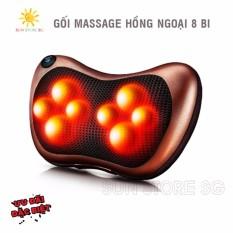 Hình ảnh Goi Mat Xa Hong Ngoai - Gối Massage Hồng Ngoại 8 Bi Cao Cấp - Bảo Hành Uy Tín 1 Đổi 1 Bởi Sun Store