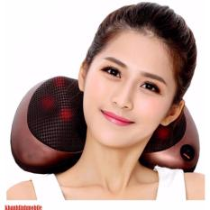 Giá Bán Gối Mat Xa Hồng Ngoại Massager Pillow Nau Đen Led Sieu Sang Hang Nhập Khẩu Massage Pillow Trực Tuyến