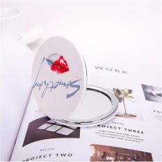Gương trang điểm bỏ túi nhỏ gọn dạng gập Nhật Bản - Kiểu tròn tốt nhất