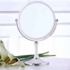 Gương Trang Điểm Để Bàn 2 Mặt  Xoay 360
