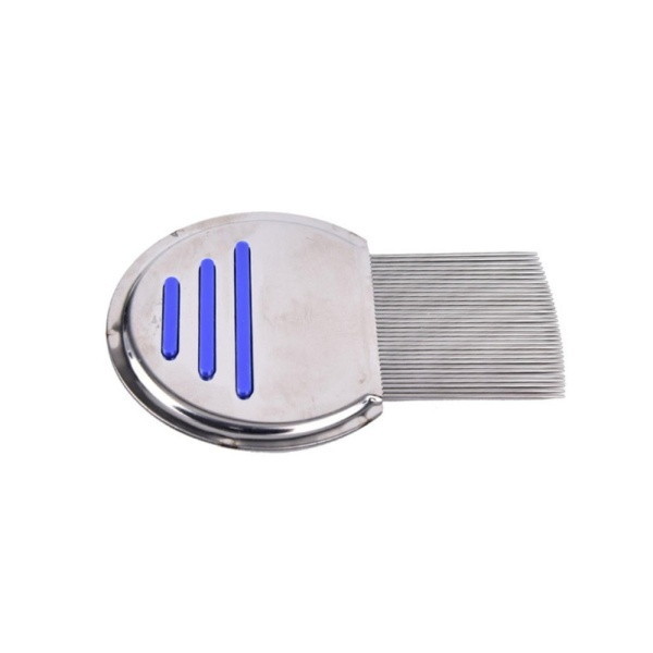 Hair Lice Comb Brushes Nit Free Terminator Fine Tooth Removal Stainless Steel - intl