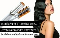 Hair Styling Hair Curlers Hair Straightener Multi-function Curlers Instyler Curlers Hair Styling Sets(EU Plug) - intl