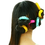Hairdress Magic Roller Curler Spiral Curls 8 Piece Set - intl