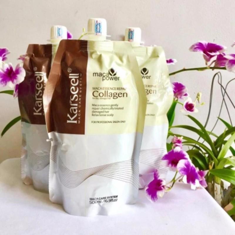 Hấp dầu Collagen Karseell bóng mượt phục hồi tóc 500ml nhập khẩu