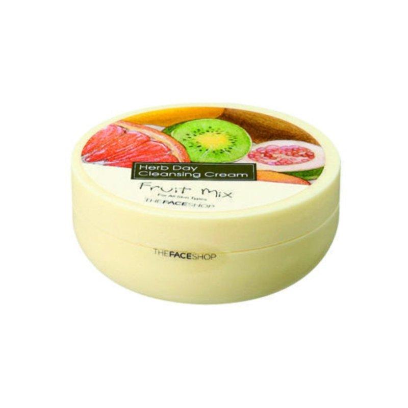 THEFACESHOP - Kem Tẩy Trang Làm Sáng Da HERB DAY CLEANSING CREAM - FRUIT MIX 150ML nhập khẩu