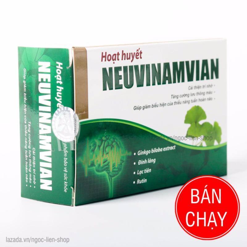 Hoạt huyết Neuvinamvian dưỡng não an thần 3 vĩ x 10 viên cao cấp