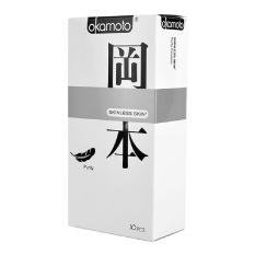 Hộp 10 bao cao su Nhật Bản Okamoto Skinless Skin Purity(Phân phối bởi: YTELOC)