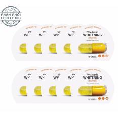 Tư vấn mua Hộp 10 gói Mặt nạ giấy dưỡng da trắng sáng và làm đều màu da Banobagi Vita Genic Whitening Jelly Mask (Vitamin C) 30ml x10