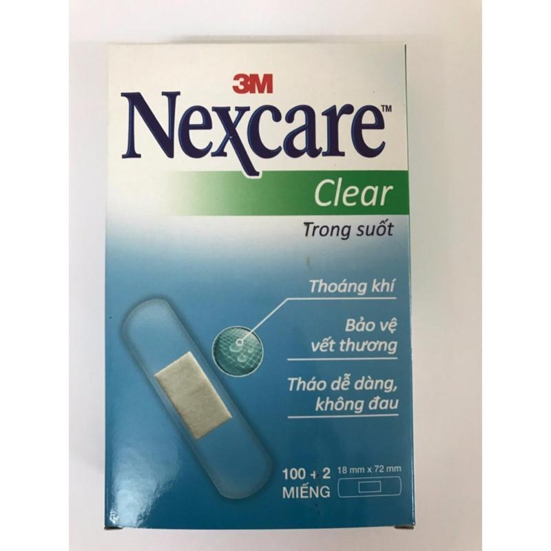 Hộp 102 miếng băng cá nhân trong suốt 3M Nexcare Clear tốt nhất