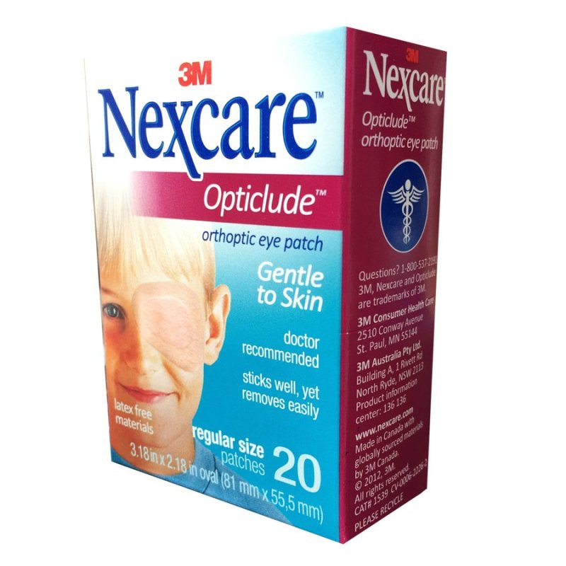 Hộp 20 miếng băng dán mắt 3M Nexcare Opticlude Orthoptic Eye Patch Regular Size