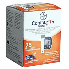 Hộp 25 que thử đường huyết Bayer Contour TS nhập khẩu