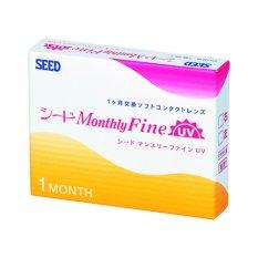 Hình ảnh Hộp 3 kính áp tròng 1 tháng SEED Monthly Fine UV