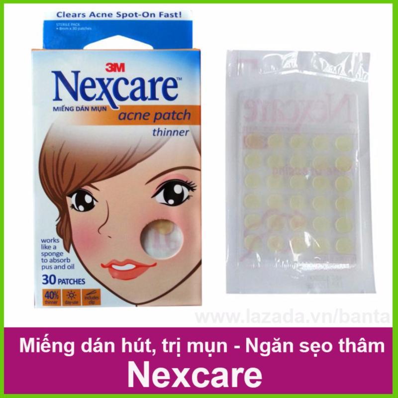 Hộp 30 miếng dán hút, trị mụn, ngăn sẹo thâm Nexcare