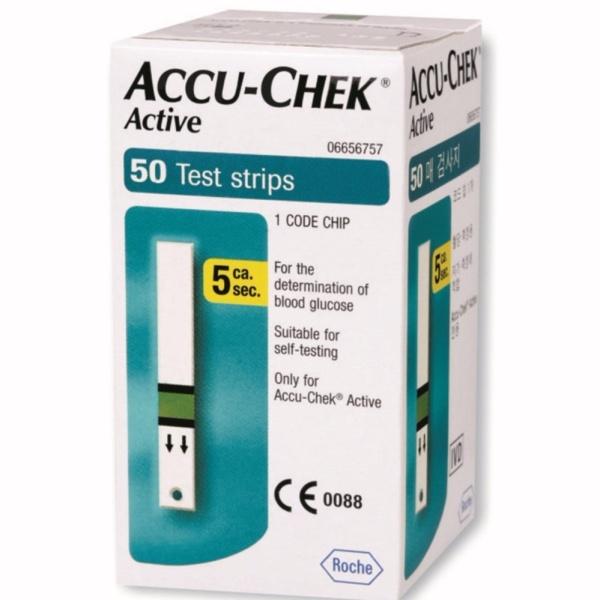 Hộp 50 que thử đường huyết Accu-check Active bán chạy