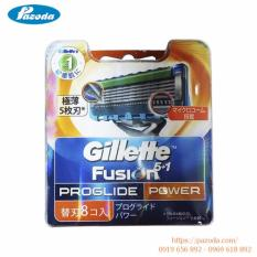 Ôn Tập Hộp 8 Lưỡi Dao Cạo Rau Gillette Fusion Proglide Power Trong Vietnam