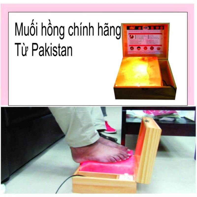 Hộp đá muối  hồng himalaya pakistan phẳng cao cấp