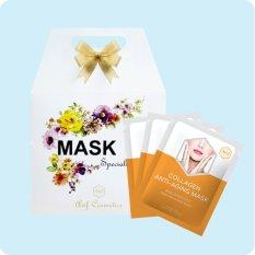 Bán Mua Hộp 10 Mặt Nạ Dưỡng Da Giảm Lao Hoa Avif Collagen Anti Aging Mask 10Goi X 21G Long An
