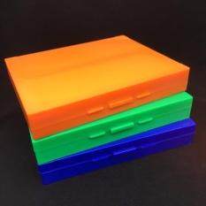 Hộp nhựa đựng lam, tiêu bản hiển vi 100 vị trí (bộ gồm 2 hộp)