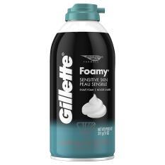Kem bọt cạo dâu  Gillette Foamy Sensitive Skin Peau Sensible 311g - USA chính hãng
