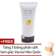 Giá Bán Kem Cc Cream Tự Điều Chỉnh Mau Vacosi Cc Cream Whitening Anti Wrinkle Spf 30 Pa 60Ml Tặng 1 Bịch 3 Miếng Bong Phấn Ướt Tam Giac Vacosi