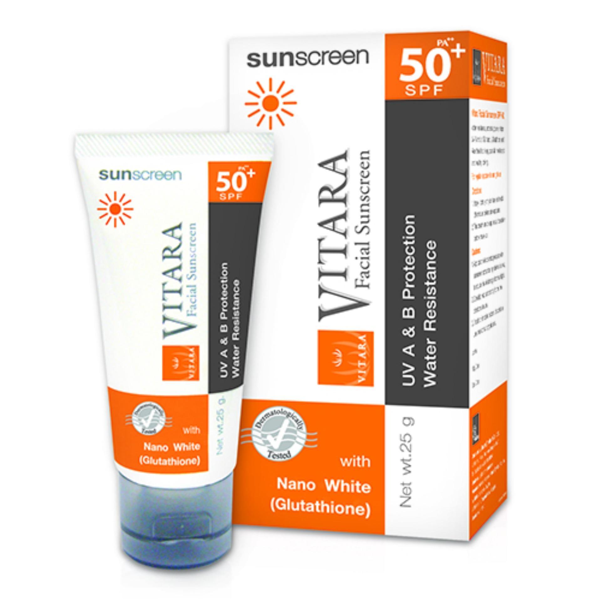 Kem Chống Nắng VITARA Chất Lượng Cao Vitara Facial Suncreen SPF50  25g tốt nhất