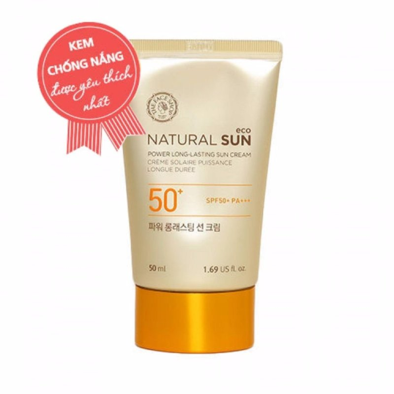 Kem chống nắng đa năng The Face Shop Natural Sun Eco Power Long Lasting Sun Cream SPF50+ PA+++ 50ml