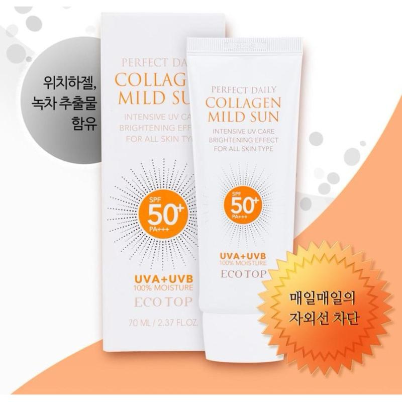 Kem chống nắng dưỡng da bố sung collagen Ecotop Perfect Daily Collagen Mild Sun SPF50+ PA+++ 70ml