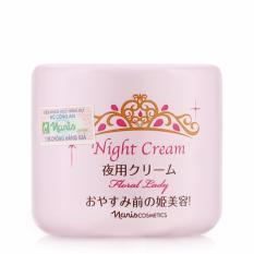 Hình ảnh Kem đêm giúp ngăn chặn sản sinh Melanin tái tạo da Naris Floral Lady Night Cream Nhật Bản 49g - Hàng Cao Cấp