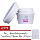 Ôn Tập Kem Dưỡng Ban Ngay Za True White Ex Day Cream 40G Tặng Kem Chống Nắng Za True White Ex Power Block Uv 15Ml Trong Vietnam