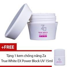 Giá Bán Rẻ Nhất Kem Dưỡng Ban Ngay Za True White Ex Day Cream 40G Tặng Kem Chống Nắng Za True White Ex Power Block Uv 15Ml