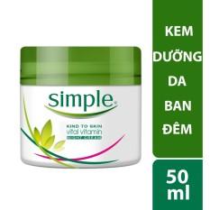 Kem dưỡng da ban đêm Simple Vital Vitamin Night 50ml