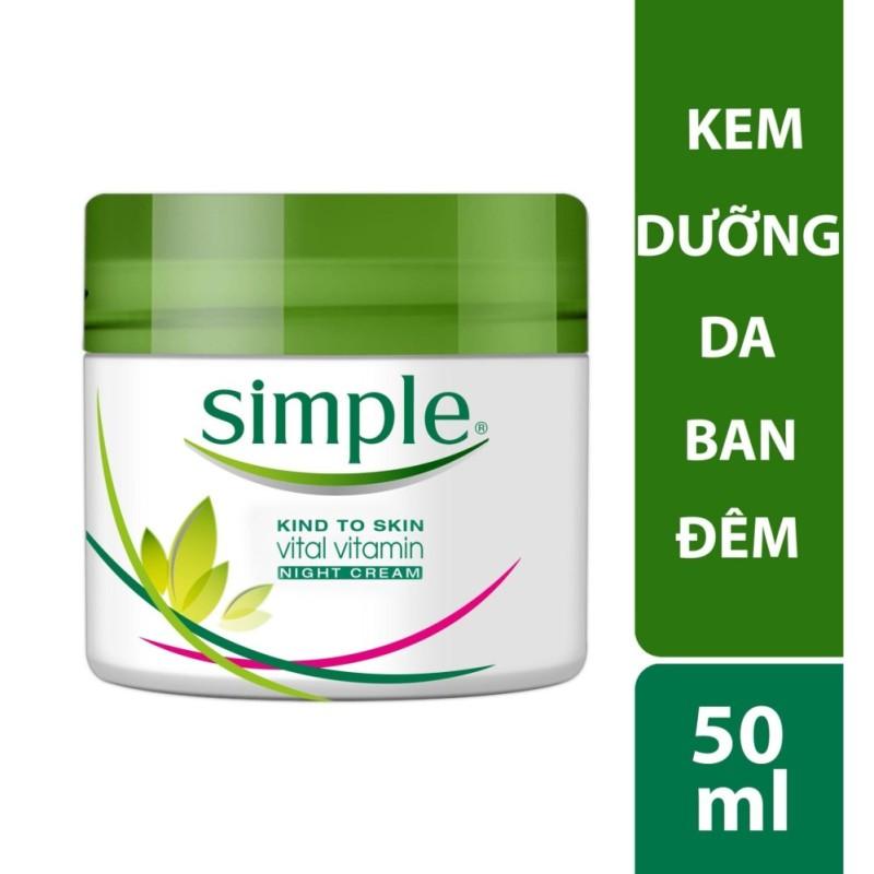 Kem dưỡng da ban đêm Simple Vital Vitamin Night 50ml cao cấp
