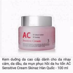 Mua Kem Dưỡng Da Cao Cấp Danh Cho Da Nhạy Cảm Da Dầu Da Mụn Phục Hồi Da Hư Tổn Ac Sensitive Cream Skinaz Han Quốc 100 Ml Trực Tuyến