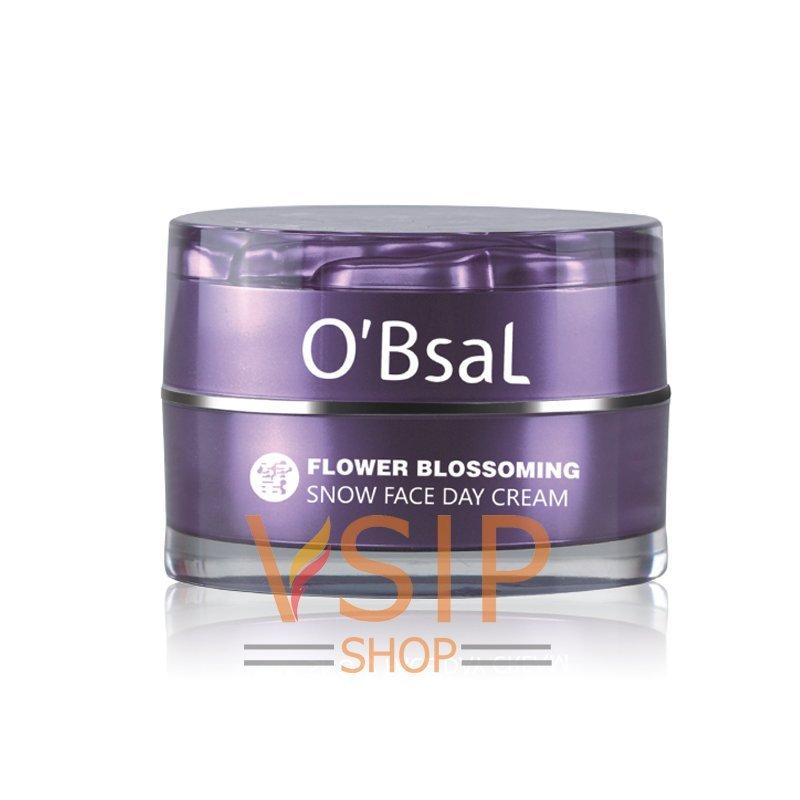 Kem dưỡng làm trắng mờ thâm nám OBsal Flower Blossoming Snow Face Day Cream 20ml nhập khẩu