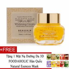 Giá Bán Kem Dưỡng Trắng Da Chống Lao Hoa Beauskin Placenta Gold Whitening Cream 50Ml Tặng 1 Mặt Nạ Dưỡng Da 3D Foodaholic Han Quốc Natural Esences Mask Rẻ Nhất