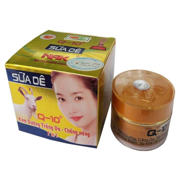 Kem dưỡng trắng da - Chống nắng 7 in 1 Ốc Sên Sữa Dê Q-10 18G
