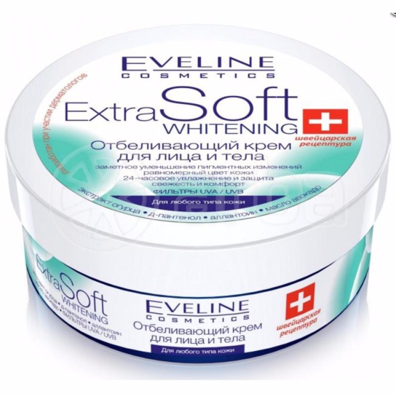 Kem dưỡng trắng da mặt và toàn thân Eveline Extra Soft Whitening 200ml cao cấp