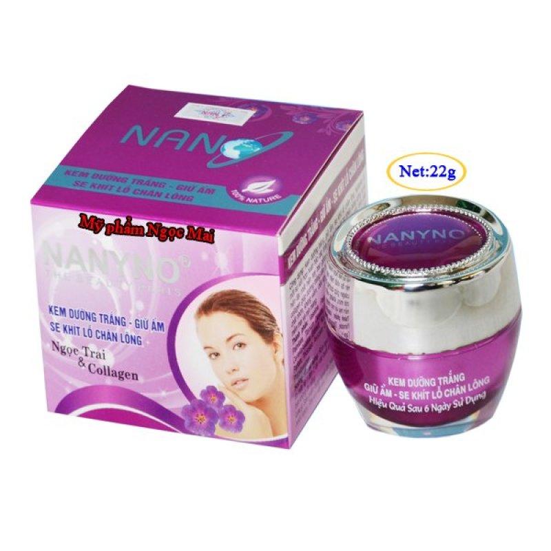 Kem dưỡng trắng Giữ ẩm Se khít lỗ chân lông Ngọc Trai và Collagen NANYNO (22g) cao cấp