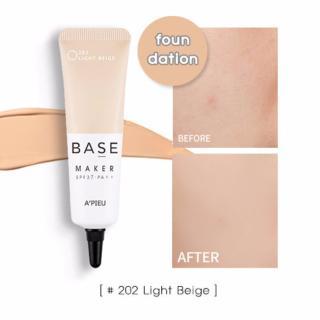 Kem lót 3in1 che phủ lỗ chân lông và làm đều màu da thế hệ mới A pieu Base Maker SPF37 20g 202 Light Beige thumbnail