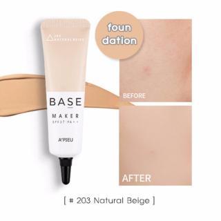 Kem lót 3in1 che phủ lỗ chân lông và làm đều màu da thế hệ mới A pieu Base Maker SPF37 20g 203 Natural Beige thumbnail
