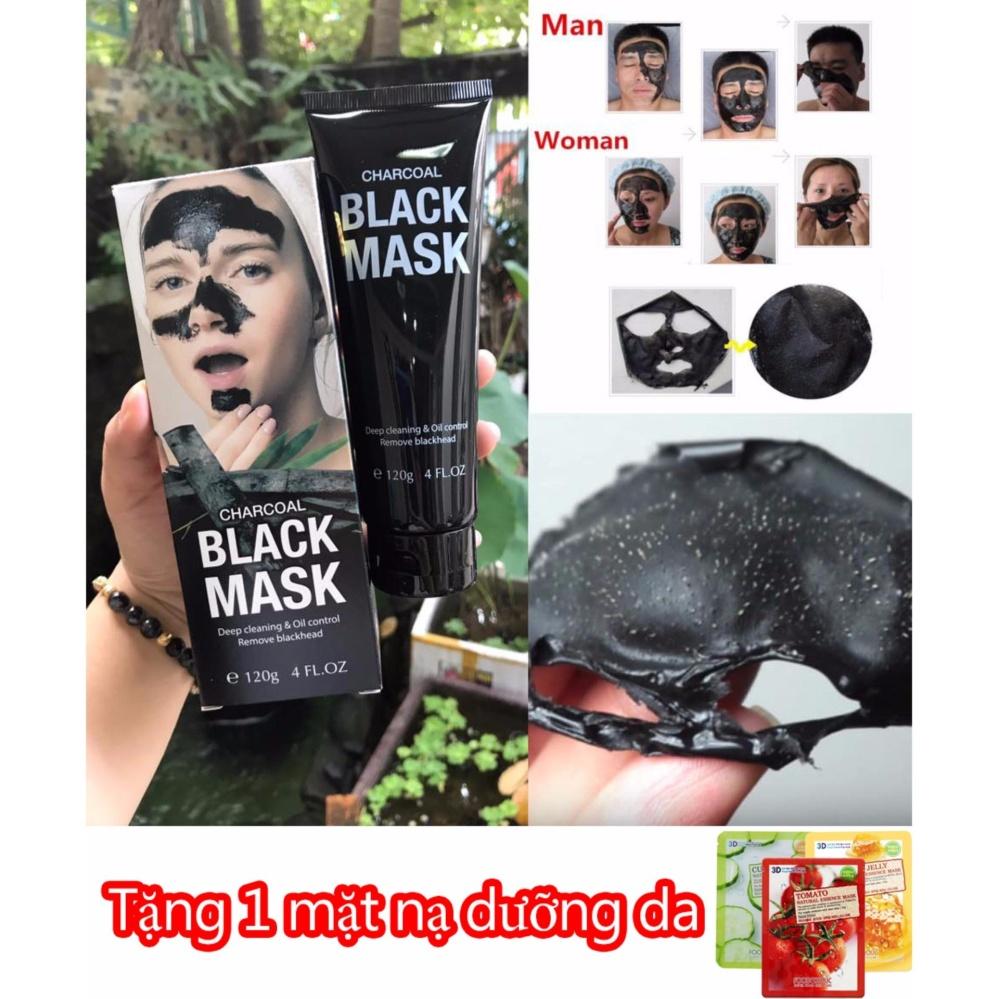 Hình ảnh Kem lột mụn than tre Black Mask Charcoal - TẶNG - 1 Miếng đắp mặt nạ dưỡng da