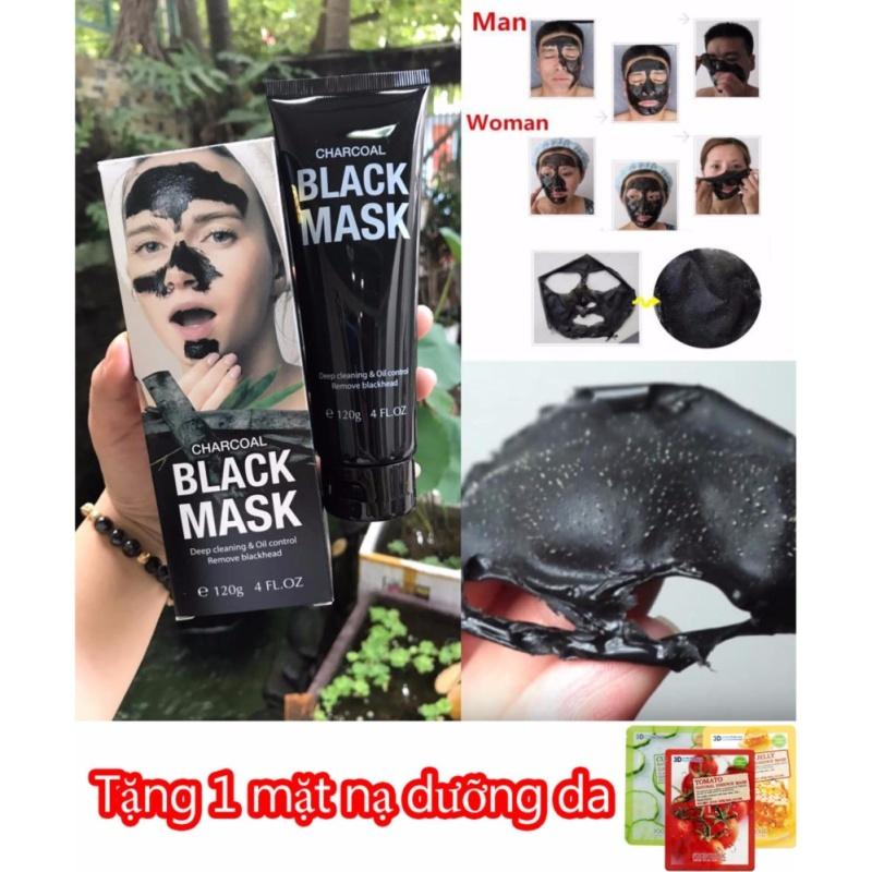 Kem lột mụn than tre Black Mask Charcoal - TẶNG - 1 Miếng đắp mặt nạ dưỡng da nhập khẩu
