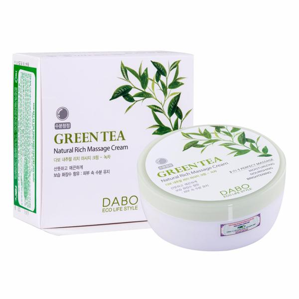 Kem massage mặt và toàn thân làm trắng và tái tạo da Green Tea Natural Cream Hàn Quốc 200ml